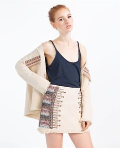 Image 1 of EMBROIDERED SKIRT from Zara