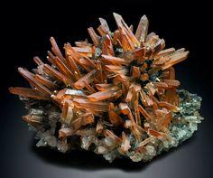 Quartz with Hematite -- Jinlong Hill, Longchuan Co., Heyuan Prefecture, Guangdong Province, China