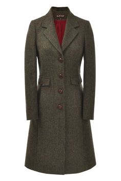 Juniper Overcoat in Dark Forest [TWD 009] - £325.00 : Really Wild Clothing Company