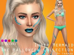 taraab's The Halloween Collection - Inner Mermaid Body Makeup