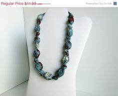 ON SALE Gray Blue Brown White Beaded Nursing by RubyRebels on Etsy, $10.79
