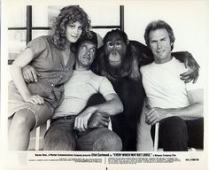 """""""Every Which Way but Loose"""" (1978) Clint Eastwood, Sondra Locke, Geoffrey Lewis, Beverly D'Angelo"""