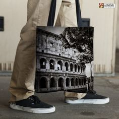Tote Bag  The Colosseum  sublimation printed art by ArtsfishStudio