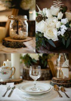 Vintage wedding table setting