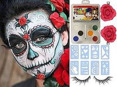 sugar skull face painting designs - Google Search