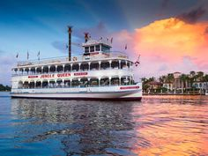 One of the most popular sightseeing cruises in Fort Lauderdale, take a wild ride on the world-famous Jungle Queen riverboat…