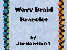 New Wavy Braid Bracelet - Monster Tail or Rainbow Loom Loom Bands Designs, Loom Band Patterns, Rainbow Loom Patterns, Rainbow Loom Creations, Rainbow Loom Bands, Rainbow Loom Bracelets, Monster Tail Bracelets, Rubber Band Crafts, Rubber Bands