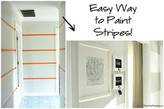 Easy Way to Paint Perfect Stripes #PaintOnTextures #ad