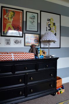 Shared kids room - Dresser/Changing Table by Meg Padgett from Revamp Homegoods www.revamphomegoods.com