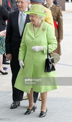 Queen Elizabeth II arrives at the Titanic Building on Day 2 of her visit to…