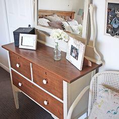Finally had a chance to photograph a dresser I did for myself a few weeks ago - Silky Oak in Old Ochre - so pleased with it #furniturerestoration #recycledfinds #restoredfurniture #vintage #brisbane #qld #womenwhodiy #anniesloanchalkpaint #dresser #silkyoak