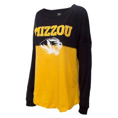 Mizzou Tigers Juniors  Sideline Jersey Style Black   Gold Crew Neck Shirt. The  Mizzou Store d6805a12c