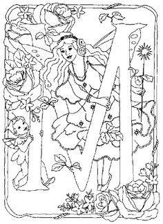 Alphabet Fairy M Coloring Pages