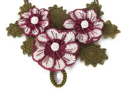 Boho Chic Turkish Needle Lace Fabric Crochet Statement by Nakkashe