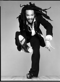 "Savian Glover!!!   ""It's as if my left heel is my bass drum and my right heel is the floor tom-tom. I can get snare out of my right toe by not putting it down on the floor hard, and, if I want cymbals, I land flat on both feet, full strength on the floor."""