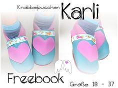 Krabbelpuschen Lederpuschen Karli Gr. 18 - 37 Freebook