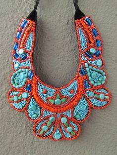 redinfred - beaded collar