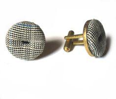 Vintage Harris Tweed cufflinks