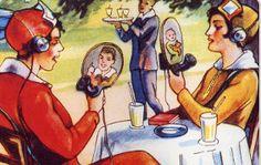 Albert Robida's idea of the telephone of the future