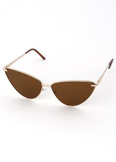 """DETAILS: - Available in black, gold and silver plated metal frames - Cat eye shape - Frame Dimensions: 6.5""""W x 2""""L - Lens Dimensions: 2.5""""W x 2"""" L - Blocks 100% UVA & UVB - Imported - All sunglasses now include a branded Jewel Cult sunglass pouch"""