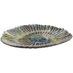 Peacock Feather Platter