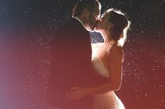 Embrace the rain and make something beautiful out of it on your wedding day   Photo by Van Middleton