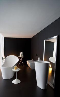 luxus badezimmer und modernes badezimmer design idee in schwarz und wei_palomba - Modernes Luxus Badezimmer