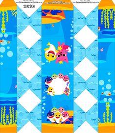 Caixa Bala Baby Shark Happy Birthday Clip, Birthday Clips, Baby First Birthday, First Birthday Party Decorations, Boy Birthday Parties, Fiesta Baby Shower, Baby Shower Themes, Boy Box, Baby Shower Souvenirs