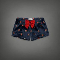 Caily Satin Sleep Shorts, navy floral