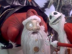 Jack Skellington chats with Santa Claus - Debate: Is Nightmare Before Christmas a Halloween or Christmas Movie? Kids Christmas Movies, Halloween Movies, Halloween Town, Christmas Town, Christmas Trivia, Merry Christmas, Halloween Window, Christmas Morning, Christmas Decor