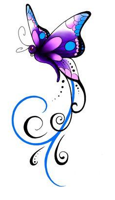 Christines butterfly Tattoo by Kuragarikurasu on DeviantArt - Christine's . - Christines butterfly Tattoo by Kuragarikurasu on DeviantArt – Christine's … – Christines bu - Butterfly Drawing, Butterfly Tattoo Designs, Butterfly Wallpaper, Butterfly Design, Purple Butterfly Tattoo, Dragonfly Tattoo Design, Butterfly Quotes, Neue Tattoos, Body Art Tattoos