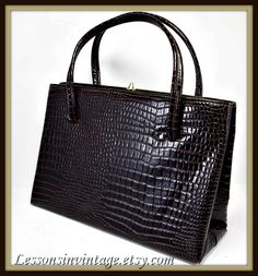 Vintage Faux Alligator Handbag by Dover in Mint Condition
