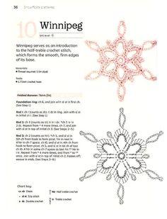 Crochet Snowflake Pattern, Christmas Crochet Patterns, Crochet Snowflakes, Crochet Flower Patterns, Christmas Knitting, Crochet Flowers, Crochet Diagram, Crochet Motif, Crochet Doilies