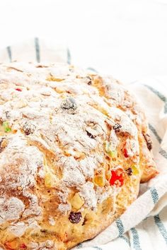 Gluten Free Julekake is a beautiful Norwegian Christmas bread studded with raisins and candied fruits with a subtle hint of cardamom. This bread is light, fluffy, and SO easy to make! Gluten Free Rolls, Gluten Free Sugar Cookies, Gluten Free Biscuits, Best Gluten Free Recipes, Gluten Free Baking, Keto Biscuits, Paleo Baking, Dairy Free Options, Vegan Options