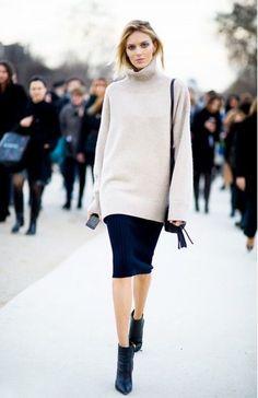 modern way to wear a turtleneck