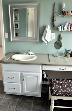 How do people come up with amazing ideas like using a shutter for a countertop?!