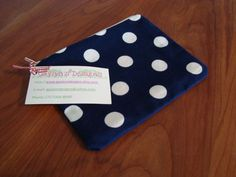 Patriotic Polka Dot Zippered Pouch by gaylynsdesigns on Etsy, $9.00