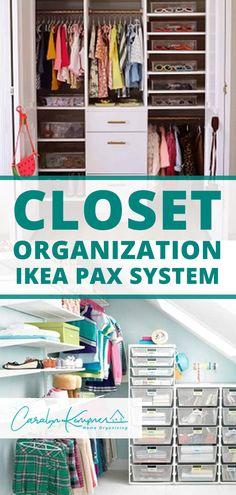 Closet Organization IKEA Pax System Treatment Projects Care Design home decor Bathroom Closet Organization, Ikea Closet Organizer, Home Organization Hacks, Organizing, Nursery Organization, Closet Storage, Ikea Pax Closet, Ikea Pax Wardrobe, Diy Home Decor On A Budget