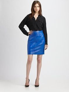 Robert Rodriguez - High Waist Leather Skirt - $495.00 - Click on the image to shop now