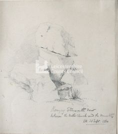J Flower Vol 2 Hanging Stones in the forest --- 21 Sept 1860 From John Flower artwork volumes 1 & 2 Flower Artwork, Leicester, Stones, Sketches, Watercolor, Creative, Artist, Flowers, Painting