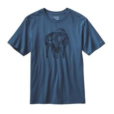 This soft and durable regular-fit T-shirt is made with organic cotton, is Fair Trade Certified for Sewing, and features a graphic that's printed with PVC- and phthalate-free inks.Artist Jari Salo weaves a story of prairies and peaks into a silhouette of the West's most symbolic inhabitant. The Illustrated Buffalo Cotton T-Shirt's center front buffalo graphic is printed (with PVC- and phthalate-free inks) onto standard-weight, ringspun 5.4-oz 100% organic cotton jersey fabric. Taped shoulder…