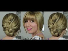 Tucked French Braid - Easy, Everyday Hairstyles for long hair and Medium Hair i find this video really good and simple for a cute hairstyle, she does lots of good hairstyle videos too