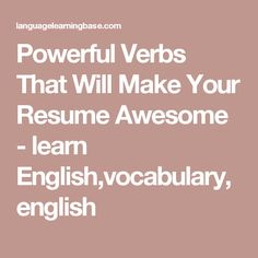 Words To Use On Resume The 10 Commandments Of Resume Writing  10 Commandments And Resume .