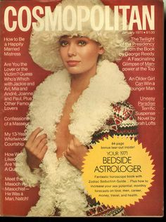 Cosmopolitan magazine, JANUARY 1971 Model: Lynn Woodruff