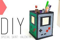 Tutoriel - D.I.Y. Saint-Valentin ou non : un pot à crayons / stylos en hama beads
