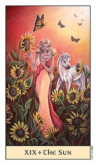 The Sun Tarot Card - Crystal Visions Tarot Deck