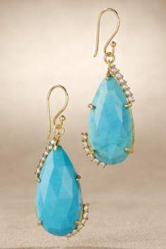 Faceted Stone Earrings - Gemstone Teardrop Earrings, Crystal Teardrop Earrings   Soft Surroundings