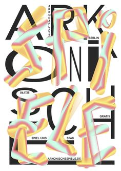 arkonische spiele by anders bakken - typo/graphic posters Graphic Design Posters, Graphic Design Typography, Berlin, Typographic Poster, Editorial Layout, Typography Quotes, Poster Making, Cool Posters, Graphic Illustration