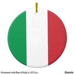Shop Ornament with flag of Italy created by AllFlags. Family Photos, Flag, Italy, Ceramics, Ornaments, Christmas, How To Make, Gifts, Design