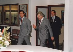 HRH the Prince of Wales at the opening of Vision Sciences, University, on November Pictured to the Prince's right: Prof Graham Harding, founder of the Clinical Neurophysiology Unit. Aston University, Typhoid Fever, Medical Journals, Electronic Media, Seizures, Magazine Articles, Epilepsy, Prince Of Wales, Graham